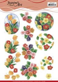 3D Cutting Sheet - Jeanine's Art - Aquarel Spring Flowers CD11440