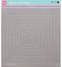 Studio light  basic shape: square PS8007
