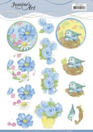3D Cutting Sheet - Jeanine's Art - Blue Flower CD11600
