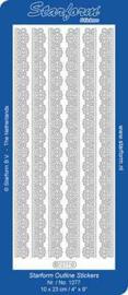 Staform Sticker rand bloem 1277 zilver