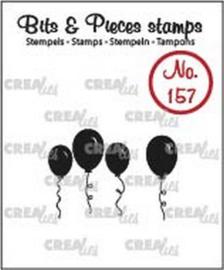 Crealies Clearstamp Bits & Pieces ballonnen (dicht) CLBP157 20 x 22 - 8 x 21mm 130505/1157