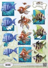 3D Knipvel - Amy Design - Animal Medley - Tropical Fish CD10538