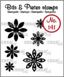 Crealies Clearstamp Bits & Pieces 6x Mini Bloemen 18 CLBP141 max. 20 mm