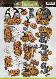 3D Knipvel - Yvonne Creations - Happy Halloween - Happy Pumpkin CD10772