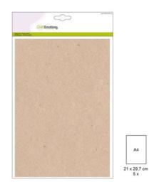 1 PK (1 PK) Papiervel-CV kraft licht bruin 5 ST A4 90GR 001345/0730