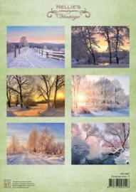 Nellie's Choice Decoupage knipvel Christmas time-7 A4 - NEVI087