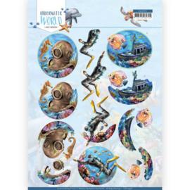 3D Cutting Sheet - Amy Design - Underwater World - Deepsea Diving CD11496