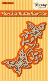Hobby solutions Die Cut Floral & butterflies HSDJ003