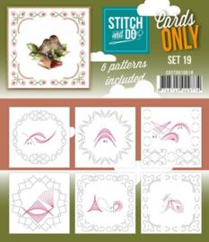 Stitch & Do - Cards only - 4k - Set 19 COSTDO10019