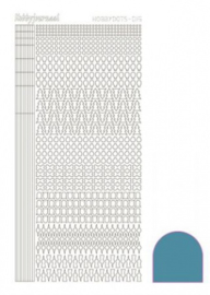 Hobbydots sticker Mirror Turquoise 015 STDM15D