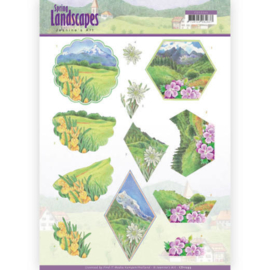 3D knipvel - Jeanine's Art - Spring Landscapes - Mountains CD11293