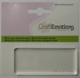 CraftEmotions blok voor clearstempel 74x31mm - 8mm 130501/1913