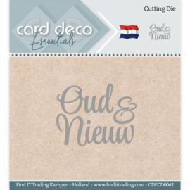 Card Deco Essentials - Cutting Dies - Oud & Nieuw  CDECD0042