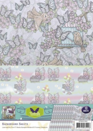 Background sheets - Yvonne Creations - Butterfly Collection SETBGS10005