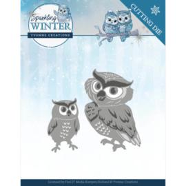 Dies - Yvonne Creations - Sparkling Winter - Winter Owls YCD10192