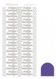 Hobby dots sticker Prettige Feestdagen mirror Purple STDMPF09