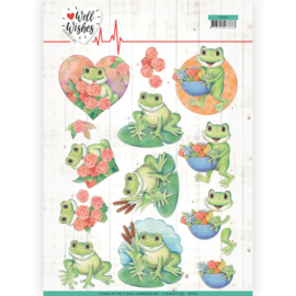 3D Cutting sheet - Jeanine's Art - Well Wishes - Frogs CD11459