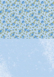 Doublesided background sheets A4 blueroses NEVA013
