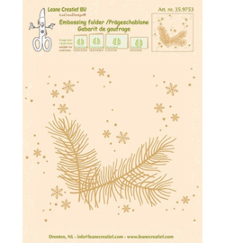 Embossing folder Christmas branches 35.9753