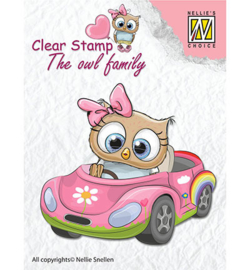 Nellie clear stamp The owl family CSO010