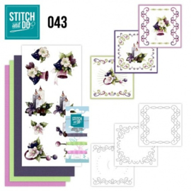 Stitch and Do 43 - Purple Colored Christmas STDO043