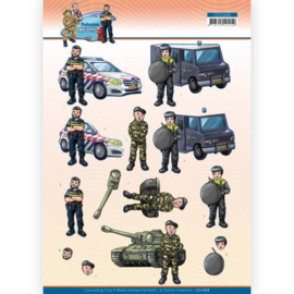 3D Cutting Sheet - Yvonne Creations - Big Guys Professions - Police CD11668