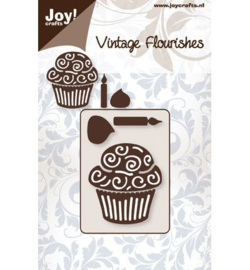 Joy Crafts Vintage Flourishes cupcakes 6003/0021