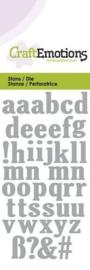 CraftEmotions Die - kleine letters Card 5x10cm 115633/0164
