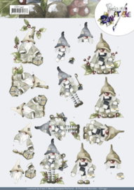 3D Cutting Sheets - Precious Marieke - Christmas Gnomes CD11441