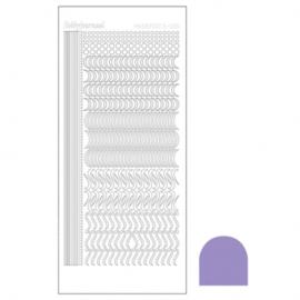 Hobbydots sticker - Mirror violet 020 STDM206