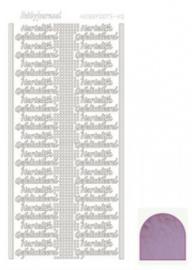 Hobby dots sticker Hartelijk Gefeliciteerd mirror Candy STDMHG03