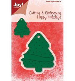 Joy crafts Snij- en embossingmal kerstboom 6002/2015