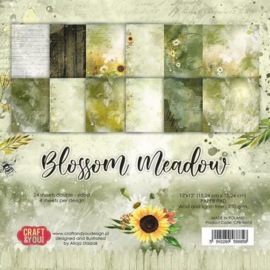 Craft&You Blossom Meadow Small Paper Pad 6x6 36 vel CPS-BM15 (07-21)