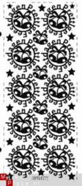 Sticker pick-up prettige feestdagen rond 577 goud
