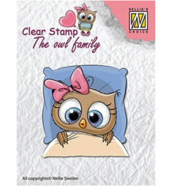 Nellie clear stamp The owl family CSO001