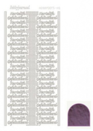 Hobby dots sticker Hartelijk Gefeliciteerd mirror Violet STDMHG06