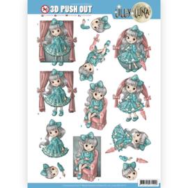 3D uitdrukvel - Lilly Luna - Mooie strikken  SB10419