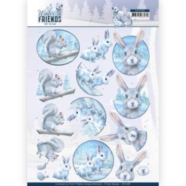 3D Knipvel - Amy Design - Winter Friends - Arctic Friends CD11405