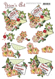 3D Cutting Sheet - Yvon's Art - Christmas Mail CD11699