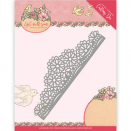 Die - Yvonne Creations - Get Well Soon - Flower border YCD10102