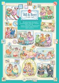 Bill & Betty set 4 3D cutting sheets + 4 PP sheet 9.0164