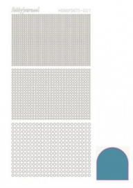 Hobby dots sticker mirror Turquoise 007 STDM07D