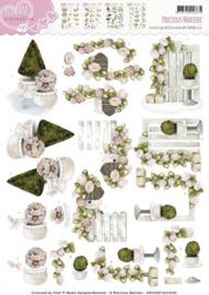 3D Knipvel - Precious Marieke - Romance - Garden Flowers CD10467