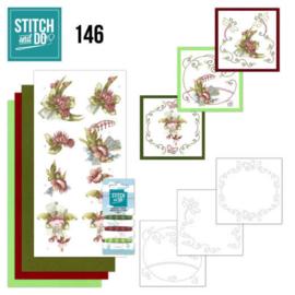 Stitch and Do 146 - Precious Marieke - Pretty Flowers - Red Flowers STDO146