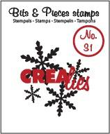 Crealies Clearstamp Bits&Pieces no. 31 Snowflake 1 CLBP31 130505/1031