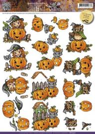 3D Knipvel Yvonne Creations - CD10410 Halloween Pumkins