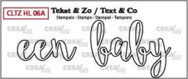 Crealies Clearstamp Tekst&Zo Een baby omlijning (NL) CLTZHL06A 31 x 11 mm - 43 x 31 mm 130505/2612