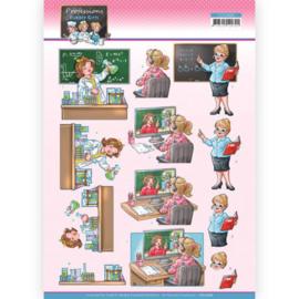 3D Cutting Sheet - Yvonne Creations - Bubbly Girls Professions - Teacher CD11666