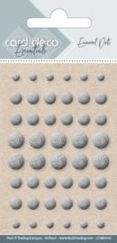 Card Deco Essentials - Enamel Dots Silver CDEED018
