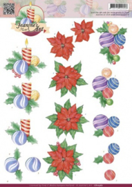 3D Knipvel - Jeanines Art - Christmas CD10567